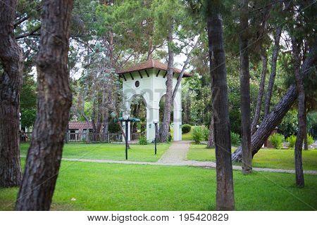 Gate of Moonlight park in Kemer. Turkey