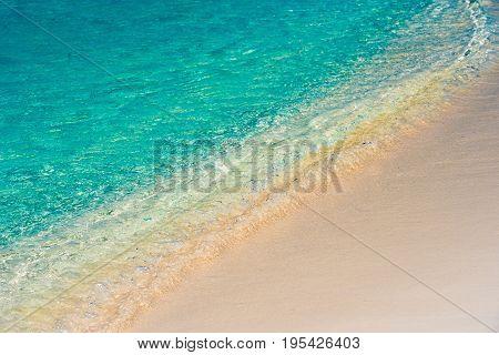 Beach wave close-up of Cayo Largo Cuba.