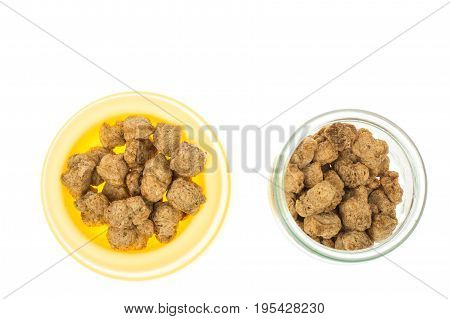 Feed for puppies and dogs of small breeds. Studio Photo