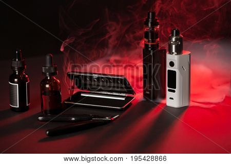 Vaping Device Mod On Dark Background