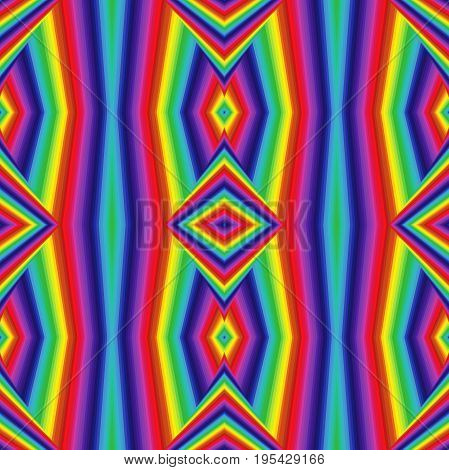 Abstract Geometric Pattern In Spectrum Colors
