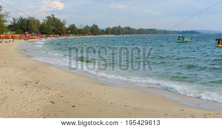 Sea Shore In Sihanoukville Beach
