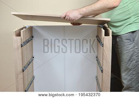 Assembling A New Dresser