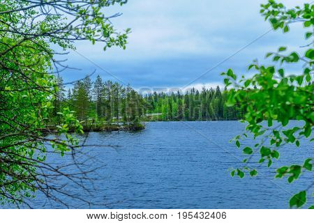 Lake Hyypionjarvi In Lapland