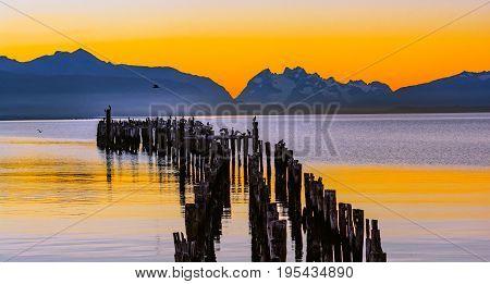 Gulf Almirante Montt,puerto Natales, Chile