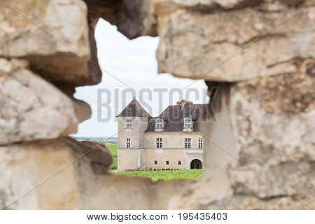 Castle of Clos de Vougeot in Burgundy, France