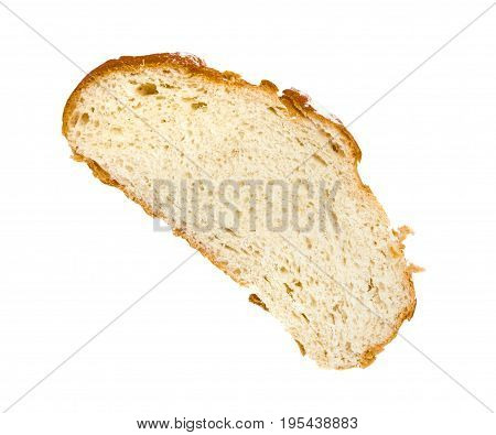 A hunk of wheat unleavened bread isolated on white background