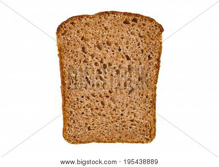 Sliced Of Rye Bread, Isolated On A White Background