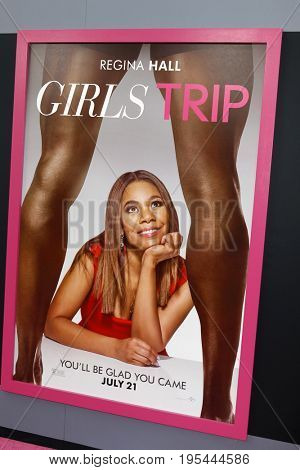 LOS ANGELES - JUL 13:  Girls Trip Poster of Regina Hall at the