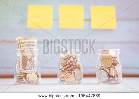 Saving money concept financial concept saving for your life