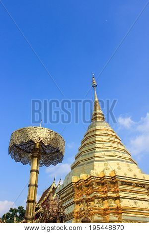 Wat Phra That Doi Suthep is a Theravada wat temple in Chiang Mai Province Thailand.