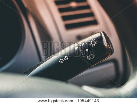 light toggle interior a modern car with black tone
