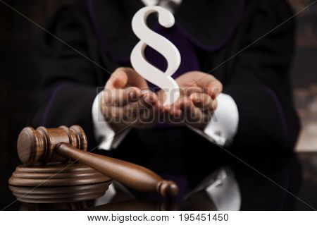 Courtroom, Law theme, mallet of the justice