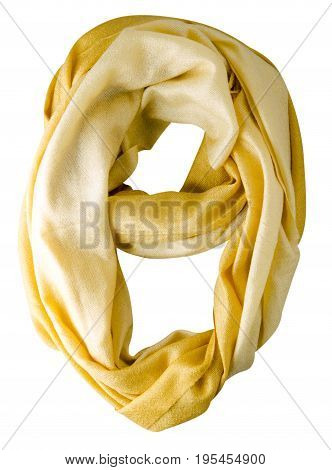 Scarf Summer. Yellow Scarf. Scarf Top View