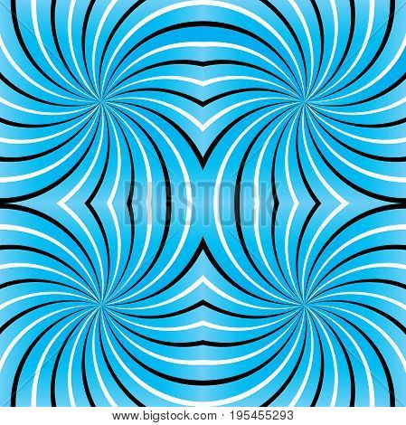 Psychedelic spiral. Spiral illusion texture lines. Psychedelic spiral with radial rays. Seamless Background. Color Abstract Background