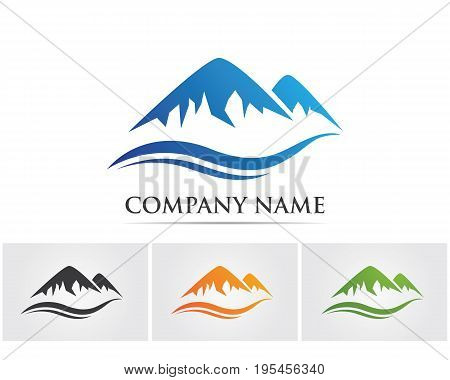 Mountain nature lanscape  logo and symbols  icons template