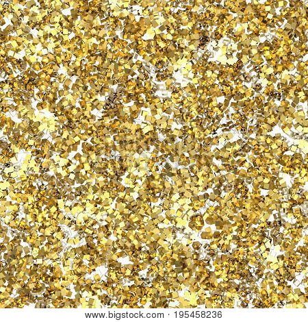 3d rendering gold flake glitter with rough texture background
