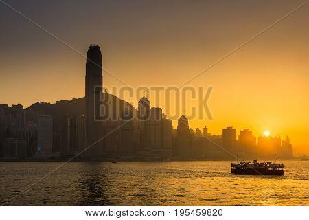 Hong Kong Golden Hour, Downtown Victoria view