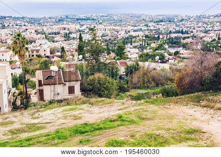 top View of the city of Pathos, Cyprus.