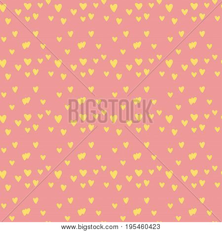 Simple red heart sharp vector seamless pattern and pink color card beautiful celebrate bright emoticon symbol holiday abstract art decoration. Romance shape design love amour.