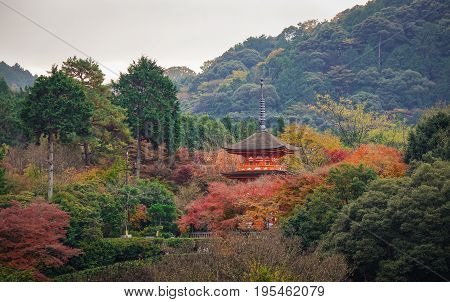 Kiyomizu-dera Shrine In Kyoto, Japan