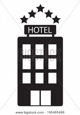 hotel icon on white background. hotel sign. flat design style.
