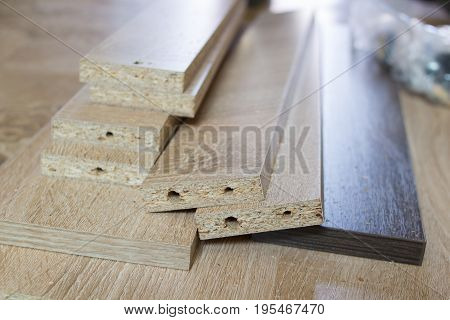 A bunch of boards for the furniture to fold