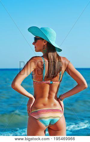 Sexy Beautiful Woman At The Sea Coast