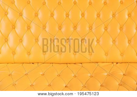 Yellow sofa in the living room copy space.