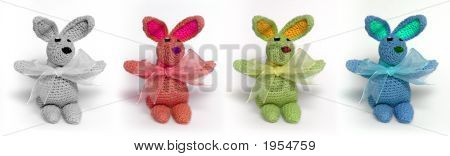 Four Multicolored Little Rabbits