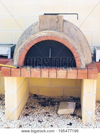 Traditional Greece and Cyprus kleftiko pit oven. Mediterranean cuisine. Greek Lamb