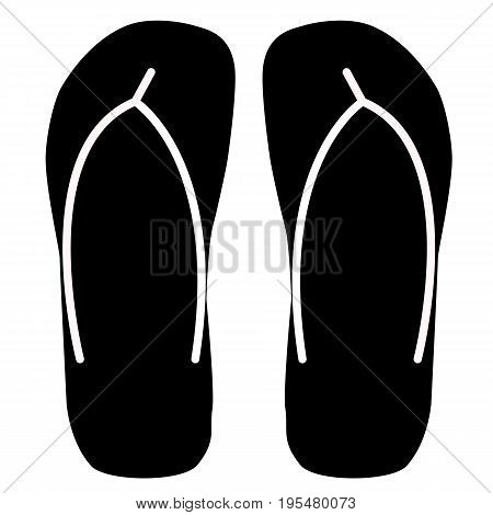 beach slippers icon on white background. beach slippers icon sign. flat design style.
