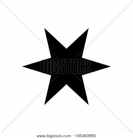Six-pointed star - Vector icon Six-pointed star Icon Vector Six-pointed star icon Six-pointed star- Vector icon