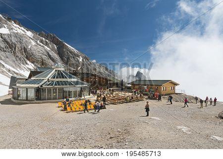 Zugspitzplatt On The Zugspitze, Editorial