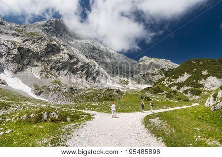 Hikers In German Alps, Editorial