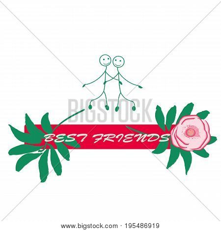 Happy Friendship day vector design. I. Usable as greeting cards, posters, clothing, t-shirt for your friends.Sticker
