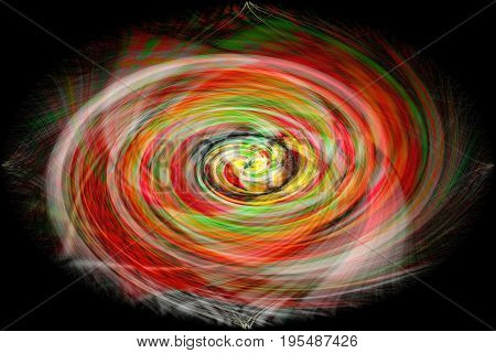 The Colourful digital abstract background in twirled form