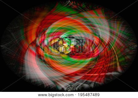 Colourful Digital abstract background in twirled form