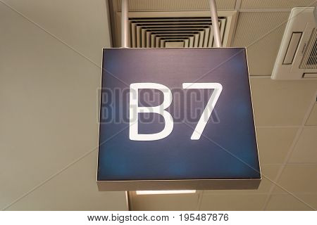 airport gate number. for passengers business and economic class.