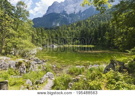 Lake Prillensee Near The Eibsee, Germany