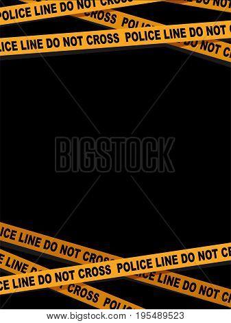 Vector Illustration of a Police Line Tape Design Background Border