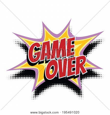 game over comic word. Pop art retro vector illustration
