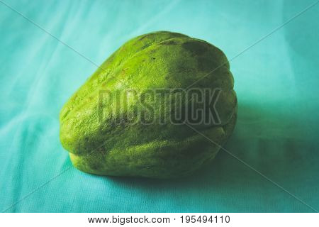 Freshly picked chayote from a local farmer's market.