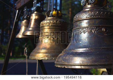 Bells. Church. Worship. Bright ringing. Chime. Religion.