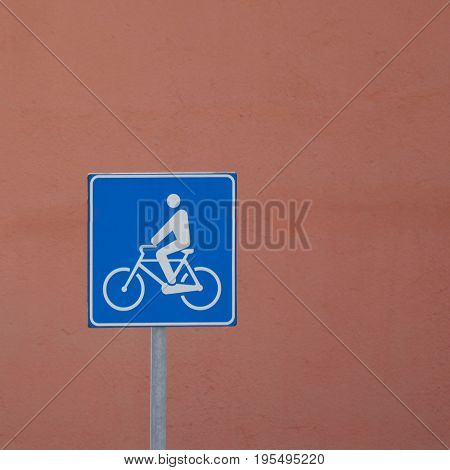 Bike Lane Sign Sign With Copy Space