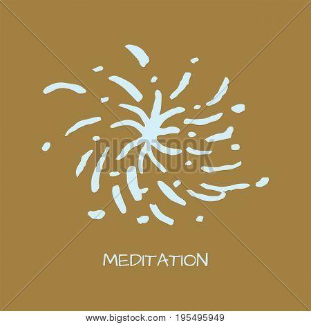 Unusual logo in simple scandinavian style for yoga studio holistic center and alternative medicine