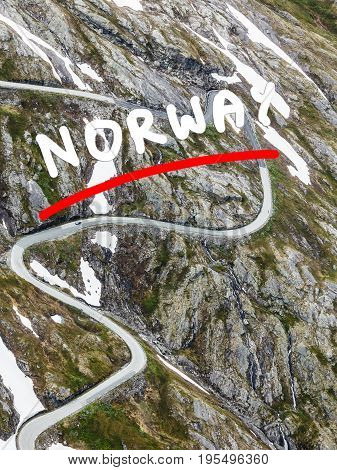 Road To Dalsnibba Mountain, Norway