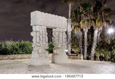 The modern contemporary sculpture
