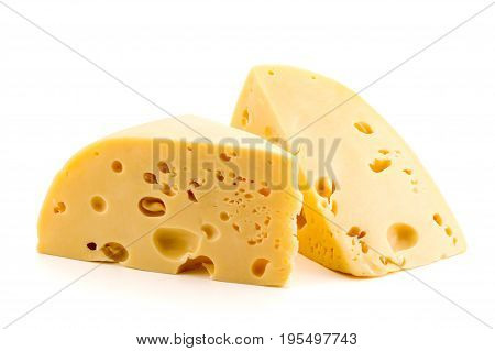 Cheese On White Background, Isolated