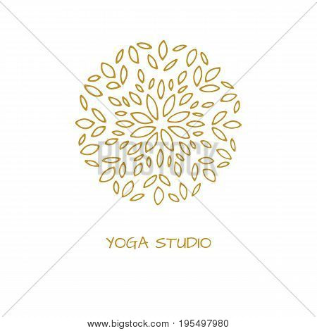 Logo in arabic style for yoga studio holistic center and alternative medicine